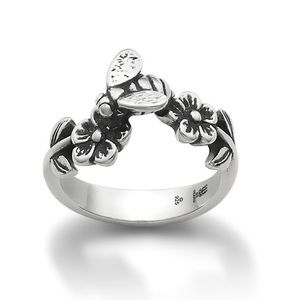 """retired James Avery """"flowers and bee"""" ring."""